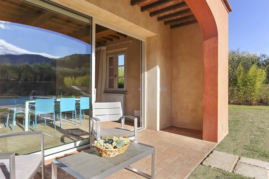 Terrasse des Ferienhauses Uva in der Toskana