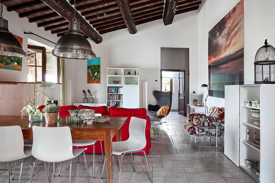Wohnzimmer des Ferienhauses Casa Il Sogno in Umbrien