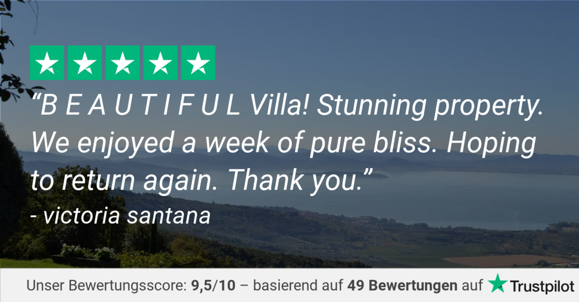 Trustpilot review of Casa Bramasole