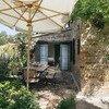 Reizende Essecke im Schatten in der Casa Sorbolongo
