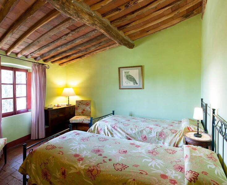 Die Doppelzimmer im Le Casine eignen sich beispielsweise für Kindern