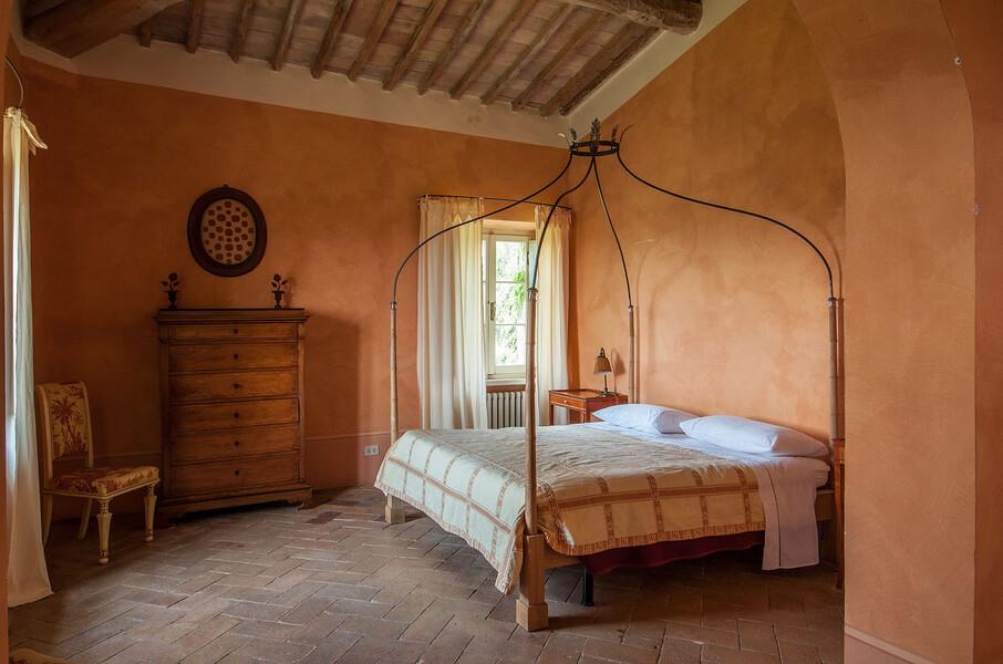 Nach einem langen Urlaubstag in der Toskana erwartet Sie ein erholsamer Schlaf in der Ferienvilla Fontanelle