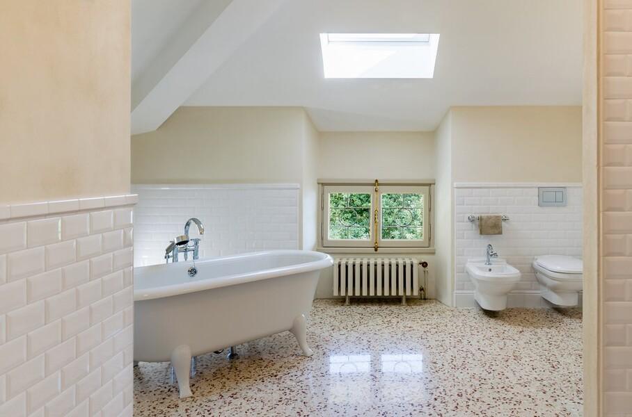 Villa Orsi Badezimmer oben