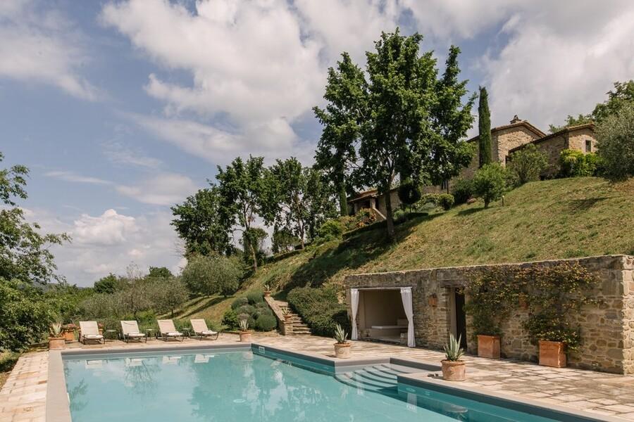 Pool zu Alleinnutzung mit einem Ferienhaus in Italien