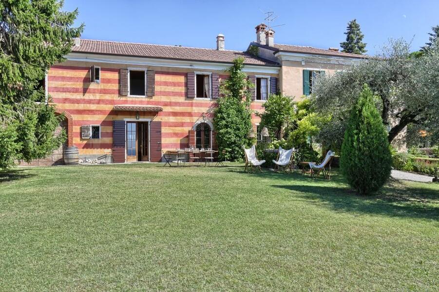 Garten des Ferienhaus Villa i Broi am Gardasee