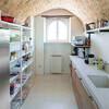 Moderne Küche im Ferienhaus Ca Mattei in den Marken