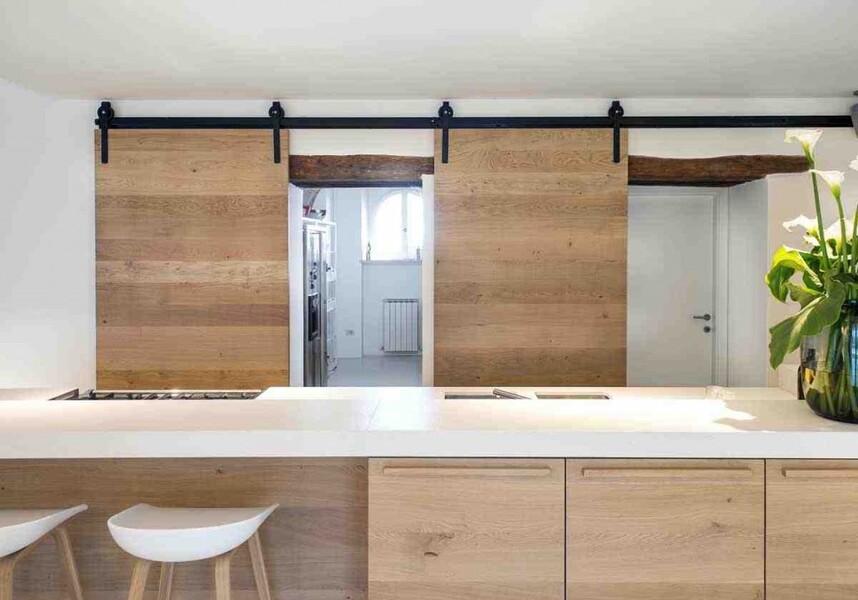 Design Küche ideal zum Kochen im Ferienhaus Ca Mattei in den Marken