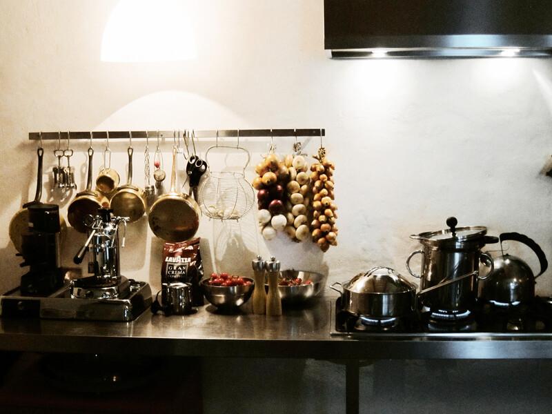 Modern kitchen Boffi in the villa Bramasole in Umbria