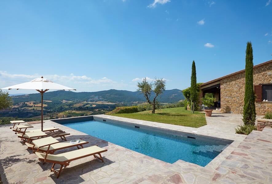 Ferienhaus Casa il Sogno mit privatem Pool und Sonnenliegen in Italien