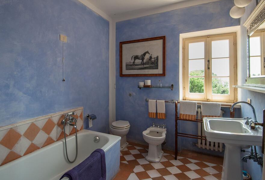 Jedes Badezimmer im Ferienhaus Fontanelle ist individuell gestaltet