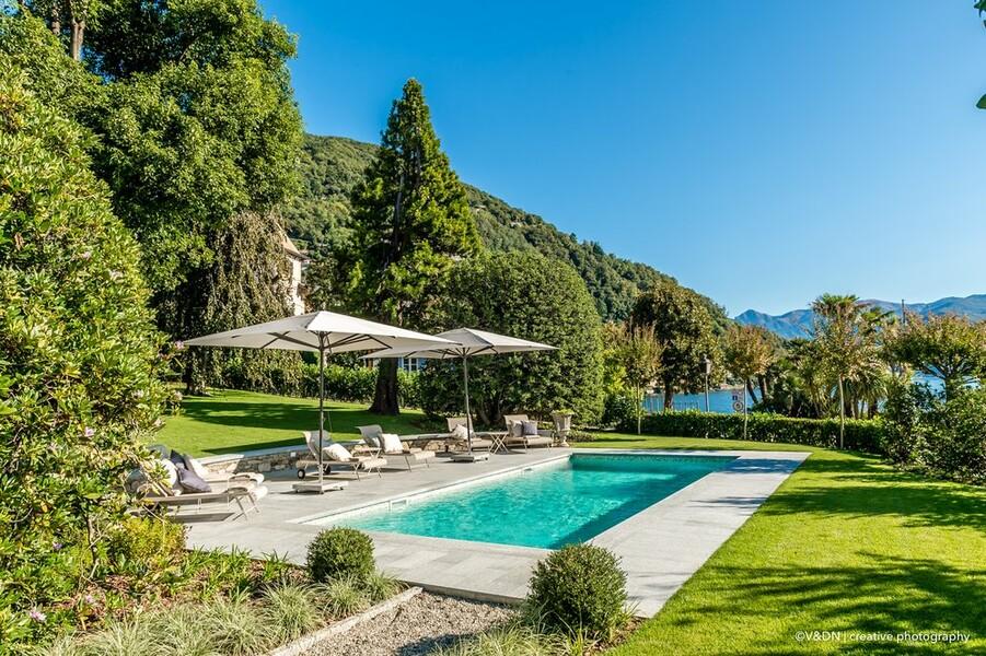 Privater Pool der Villa Orsi am Lago Maggiore